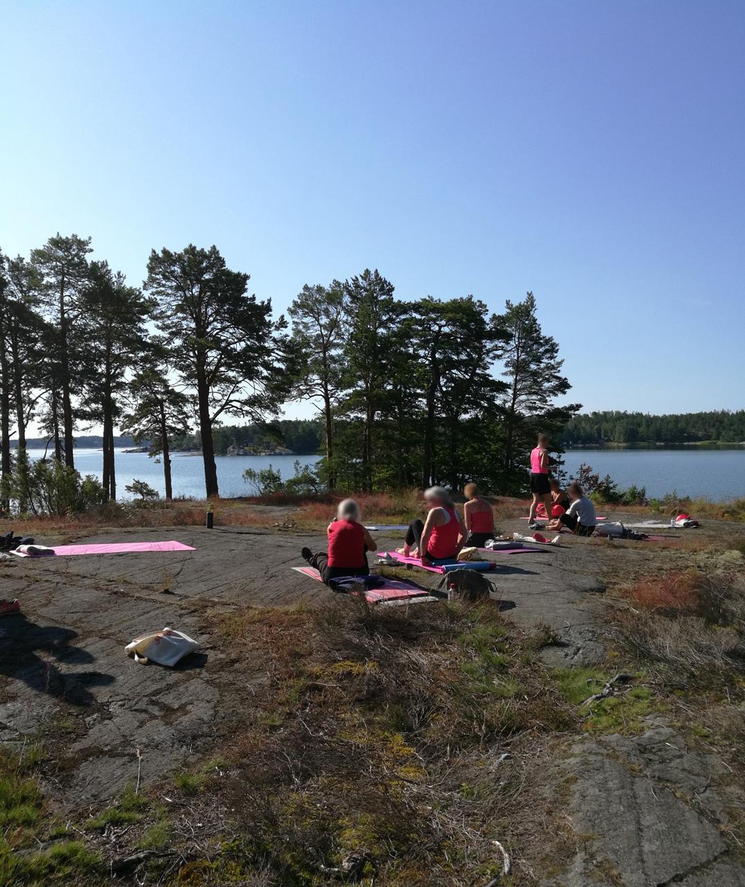 Yogaklass Ornö i Stockholms skärgård